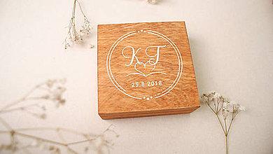 Prstene - Drevená krabička na obrúčky nevestin návrh - 9517583_