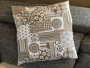 Úžitkový textil - Obliečky na vankúš béžové - 9518751_