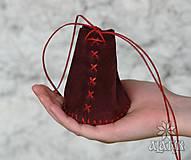 Peňaženky - Kožený mešec bordový - 9518138_