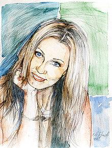Obrazy - Obraz na objednávku - ceruzka a akvarel (Bez rámu 40x50) - 9516908_
