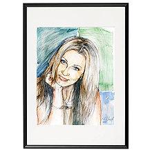 Obrazy - Obraz na objednávku - ceruzka a akvarel (S čiernym rámom 40x50) - 9519205_