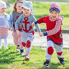 Detské oblečenie - Originálne turky celoročné námornícke - 9515009_