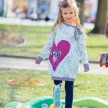 Detské oblečenie - Pohodlné a trendy mikinošaty balonové - 9515073_
