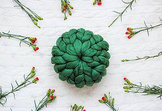 Úžitkový textil - ♥ jarná / letná edícia ♥ Okruhlý Merino vankúš - 9516183_