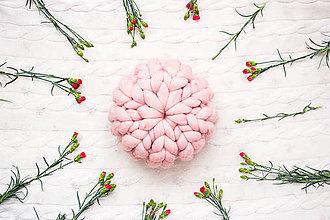 Úžitkový textil - ♥ jarná / letná edícia ♥ Okruhlý Merino vankúš - 9516355_