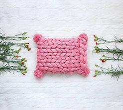 Úžitkový textil - ♥ jarná / letná edícia ♥ Merino vankúš POM POM - 9516401_