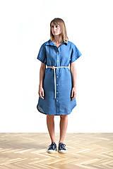 Šaty - Dress shirt Linen SALE - 9515379_