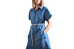 Šaty - Dress shirt Linen SALE - 9515380_