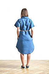 Šaty - Dress shirt Linen SALE - 9515381_
