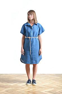 Šaty - Dress shirt Linen - 9515379_