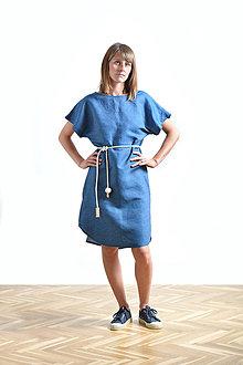 Šaty - Summer dress Linen SALE - 9516498_