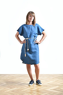 Šaty - Summer dress Linen SALE - 9516498_