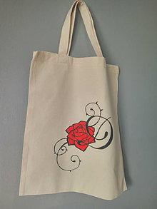 Nákupné tašky - EcoBag Ruža - 9518581_