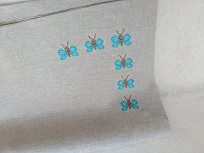 Polotovary - Motýle - výšivka rohová - 16 x 20 cm - 9517769_