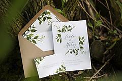 Papiernictvo - Svadobný set - Zeleň II. - 9516023_