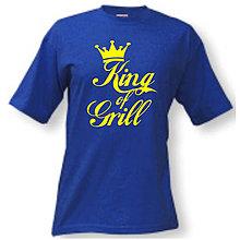 Oblečenie - KING OF GRILL - pánske tričko - 9518846_