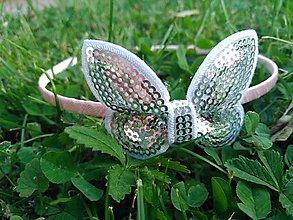 Ozdoby do vlasov - Marhuľková so strieborným motýlikom - 9518325_
