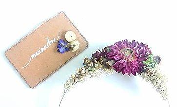 Ozdoby do vlasov - Čelenka zo sušených kvetov - 9516368_
