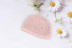 Detské čiapky - Ružová letná čiapka EXTRA FINE - 9516291_