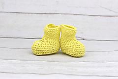 Topánočky - Žlté letné papučky EXTRA FINE - 9516389_