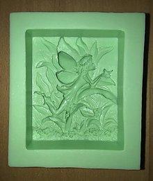 Pomôcky/Nástroje - Silikónová forma, lesná víla, 10 x 8,8 cm - 9517905_