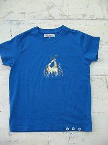 Detské oblečenie - Tričko so zaláskovaným jeleňom - 9515296_