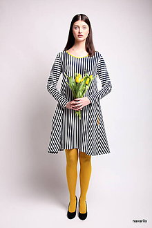 Šaty - šaty Máry- proužkované s kapsami - 9515401_