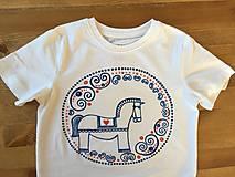 Detské oblečenie - Maľované tričko s koníkom naľudovo - 9515417_