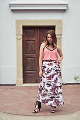 Sukne - Dlhá vzorovaná sukňa - 9518452_