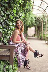 Sukne - Dlhá vzorovaná sukňa - 9518456_