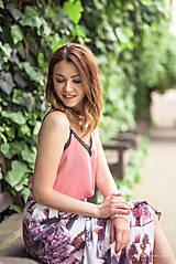 Sukne - Dlhá vzorovaná sukňa - 9518457_
