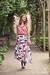 Sukne - Dlhá vzorovaná sukňa - 9518471_