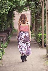 Sukne - Dlhá vzorovaná sukňa - 9518475_