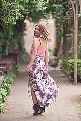 Sukne - Dlhá vzorovaná sukňa - 9518477_
