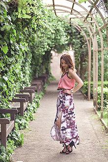 Sukne - Dlhá vzorovaná sukňa - 9518473_