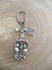 Iné šperky - prívesok na kľúče, kľúčenka sova - 9518173_