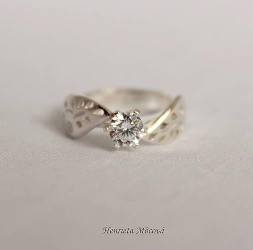 Prstene - folk zásnubný prsteň Trnava - midi - 9517137_