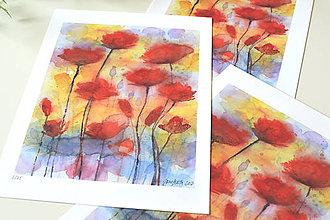 Grafika - Divé maky II, akvarel výtlačok (print) - 9517412_