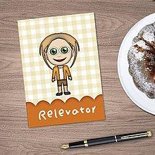 Papiernictvo - Zápisník s vlastnou karikatúrou - károvaný pre - 9516761_