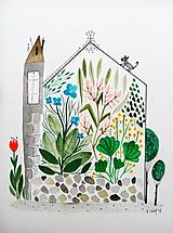 Obrazy - Skleník letné rastliny Ilustrácia / originál maľba - 9521938_