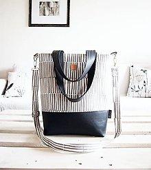Veľké tašky - Veľká taška - minimal - sivobiela s tmavosivou - 9522182_