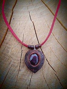 Náhrdelníky - náhrdelník s Rubínom - 9522734_