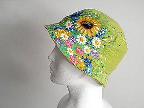 Detské čiapky - Dětský klobouček s květinami - 9520393_