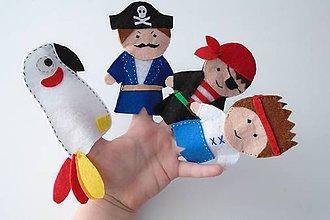 Hračky - Bábky na prsty: Piráti - 9520828_
