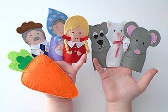 Hračky - Bábky na prsty: Ťahal dedko repu - 9520873_