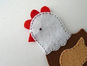 Hračky - Bábky na prsty: zvieratá (Sliepka) - 9521230_