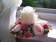 """Dekorácie - Kvetinový aranžmán a svietnik v tvare srdca  """"... srdiečko pre Teba..."""" - 9519807_"""