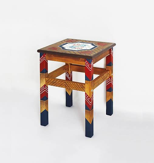 Maľovaná stolička Bauernmalerei