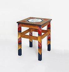 Nábytok - Maľovaná stolička Bauernmalerei - 9522640_