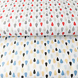 Textil - dažďové kvapky; 100 % bavlna Francúzsko, šírka 160 cm, cena za 0,5 m - 9519504_
